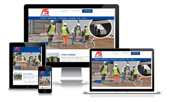 Acra Screed Ltd  - Web Designer Stoke on Trent