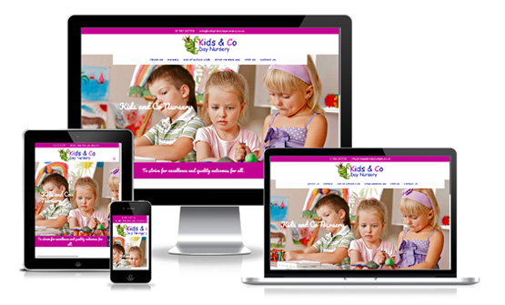 Kids and Co Day Nursery - Web Designer Stoke on Trent