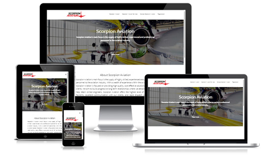 Scorpion Aviation - Web Designer Stoke on Trent