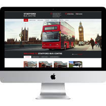 Web Designer Stoke For Stafford Bus Centre