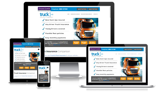 Truck Insurance Comparison - Web Designer Stoke on Trent